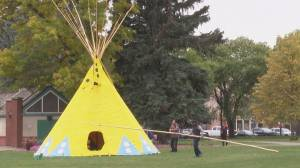 Lethbridge's Galt Gardens hosts teepee ceremony during Reconciliation Week (01:49)