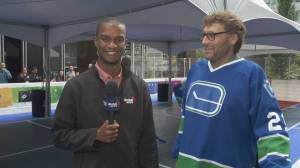 Canucks alumni take over downtown Vancouver (02:49)