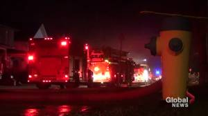 House fire on Bond Street in Lindsay (01:20)