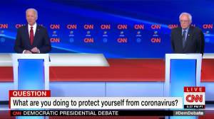 Coronavirus outbreak: COVID-19 discussion dominates Democratic debate between Sanders, Biden