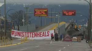 Demonstrations in solidarity with Wet'suwet'en Nation's Coastal Gaslink blockade (02:36)