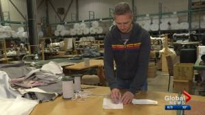 Furniture manufacturer making masks for The Mustard Seed