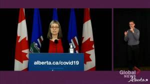 Alberta identifies 12 more variant COVID-19 cases (01:44)