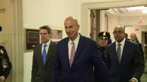 Gordon Sondland arrives to testify in Trump impeachment hearing
