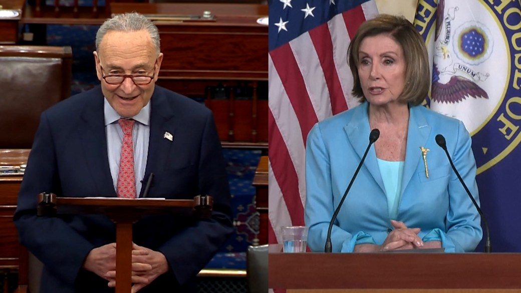 Click to play video: 'Schumer, Pelosi praise Supreme Court decision to save Affordable Care Act'