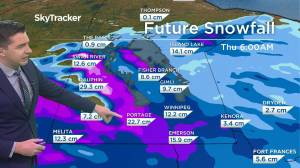 Another snowy day: April 12 Manitoba weather outlook (01:38)