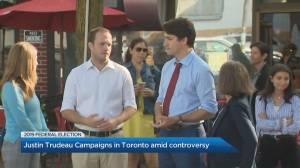 Justin Trudeau campaigns in Toronto talking gun violence