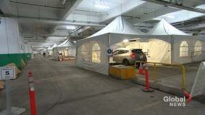 Indoor, drive-thru COVID-19 screening clinic opens in Montreal's east end (01:38)
