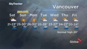 B.C. evening weather forecast: June 18 (01:20)