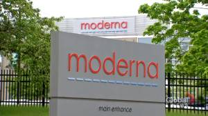 Moderna unveils plans in Montreal for Canada's first vaccine production centre (01:59)