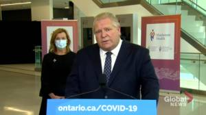 Ontario Premier Ford says 'no reason' to offer paid sick leave program (01:46)