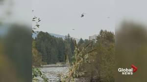 Water rescue underway along North Vancouver's Capilano River