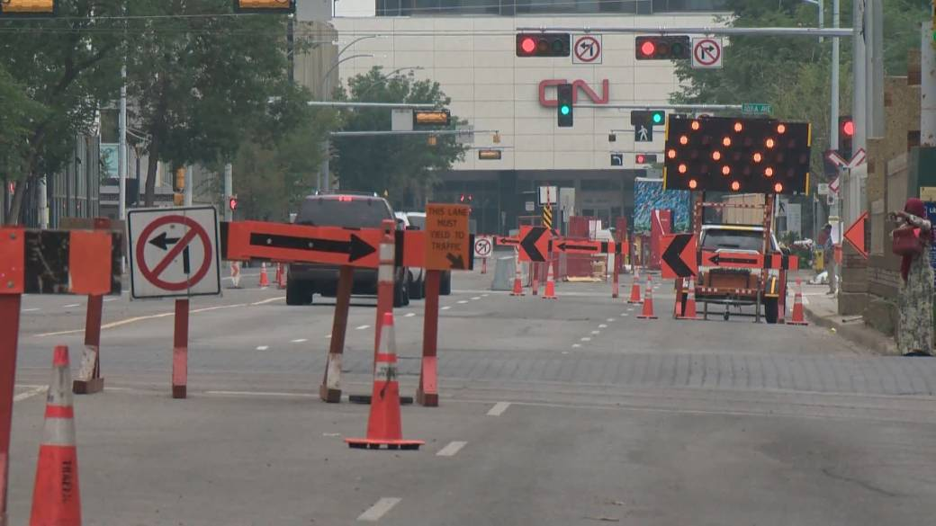 Click to play video: 'Construction in downtown Edmonton causing headaches for some'