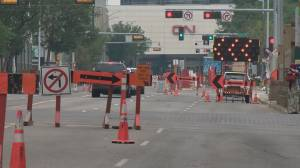 Construction in downtown Edmonton causing headaches for some (01:49)