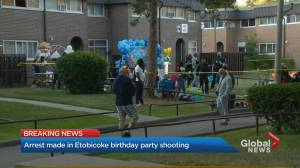 24-year-old Toronto man under arrest after shooting at birthday party for 1-year-old (02:40)
