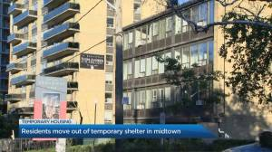 Residents move out of temporary midtown Toronto shelter