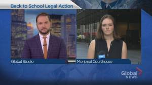 Montreal lawyer files motion opposing Quebec's back to school plan (01:46)