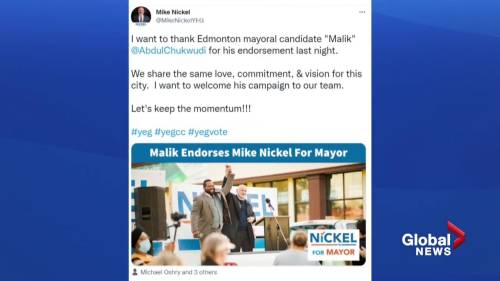 Edmonton mayoral candidate gives, receives endorsements from other candidates | Watch News Videos Online