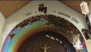 Central Edmonton church fire damages pegged at $350,000 (01:43)