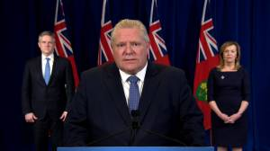 Coronavirus outbreak: Doug Ford outlines scope of Ontario government's economic response to COVID-19 (01:31)