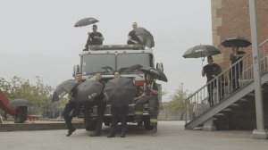 Vancouver Firefighters Umbrella Day