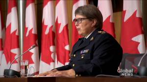 RCMP commissioner speaks about force's response to tensions in lobster industry (01:54)