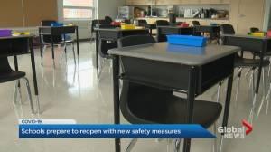 Global News gets inside peak at GTA elementary school's COVID-19 prep (02:25)