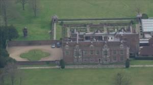 Coronavirus outbreak: Aerial view of residence where British PM Johnson will recover