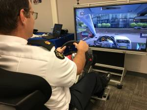 OPP in Brighton unveil state-of-the-art distracted driving simulator (01:46)