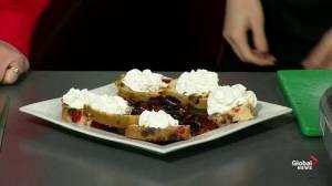 Fruitcake flambé with Doug Adsit from Green Bean Java Bistro
