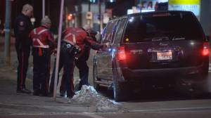Man critically injured after falling from moving limousine in downtown Calgary