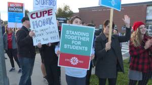 Teachers and students hold early morning education cuts protest