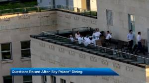 Concerns raised after Kenney and cabinet ministers dine on 'Sky Palace' balcony (02:04)