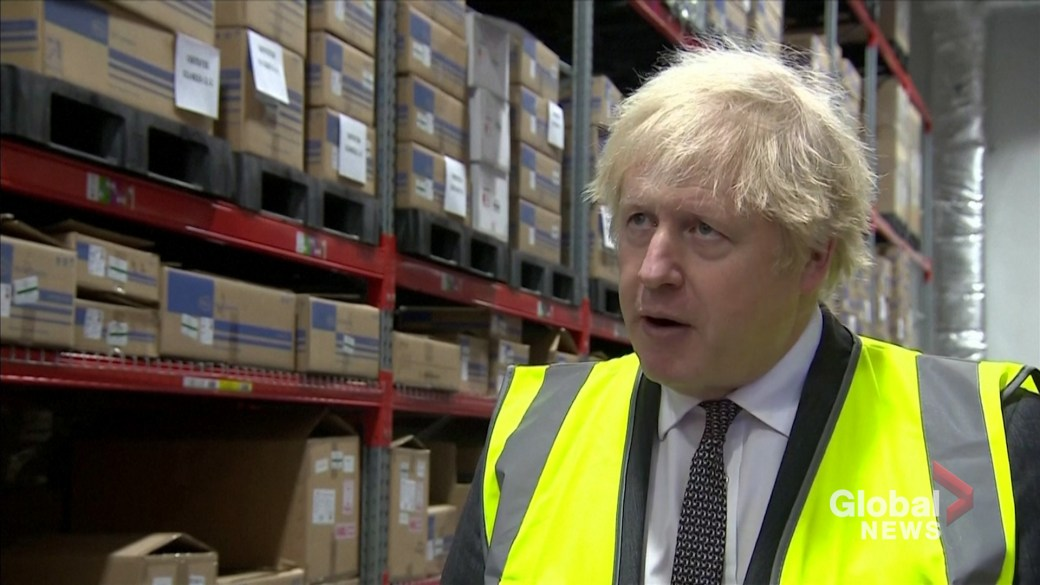 Click to play video: 'Coronavirus: UK PM Boris Johnson says 'things will be very different by the spring''