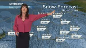 Kelowna Weather Forecast: December 30 (03:45)