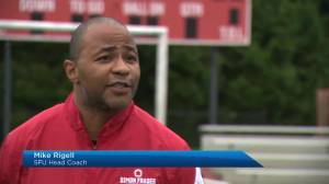 SFU's football team back on the field (01:51)