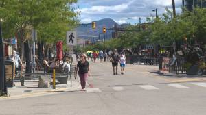 Downtown Kelowna businesses pushing for early closure on Bernard Ave. (02:14)