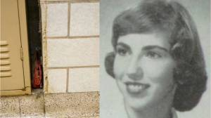 Purse lost in 1957 discovered in school wall, reunited with owner's children