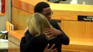 Botham Jean's brother hugs ex-cop Amber  Guyger after sentence