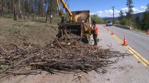 Fire hazard near West Kelowna cleaned up by Tolko