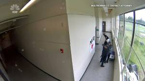 Security camera captures coach disarming student who brought a gun to school