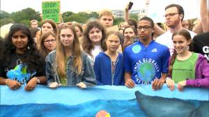 Greta Thunberg joins student demonstrators outside White House to protest climate change inaction