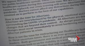 Alberta doctors tell province not to change health system during a pandemic