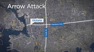 Victoria police investigate arrow attack on car