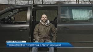 Toronto frontline worker talks about the 'hidden-homeless' population (05:30)