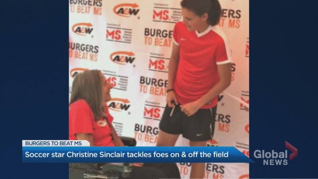 Click to play video: 'Canadian Soccer legend Christine Sinclair tackles foes on and off the field'