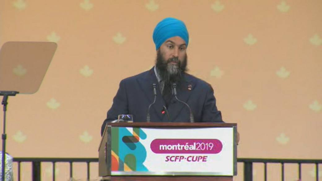 Singh sets sights on union voters in Quebec in midst of rising Bloc support