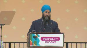 Jagmeet Singh tries to shore up support from Canada's largest union