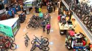 Play video: COVID-19 hindering bicycle-manufacturing process