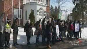 Protestors calling on federal government to sign emergency order to save Île-Perrot forest (02:01)